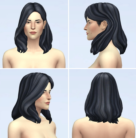 Rusty Nail: Wavy Hair Edit V4 for Sims 4