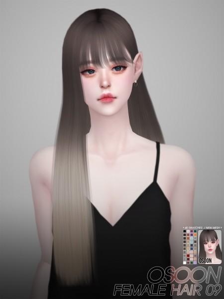Osoon: Hair 09 for Sims 4