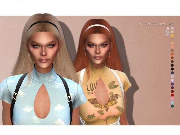 The Sims Resource: Alice Hair by Nightcrawler for Sims 4
