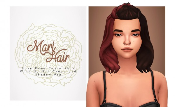 Isjao: Mari Hair for Sims 4