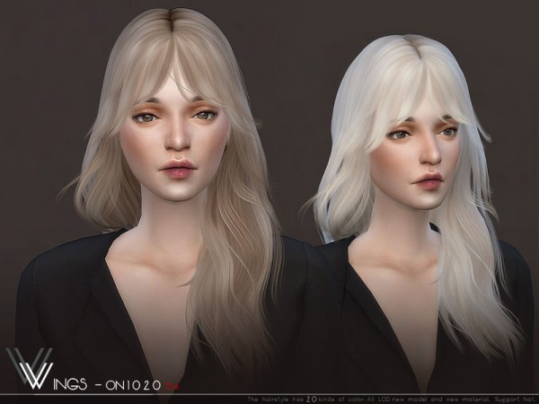The Sims Resource: WINGS ON1020 hair for Sims 4
