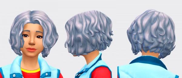 Pickypikachu: Melatonin Hair for Sims 4