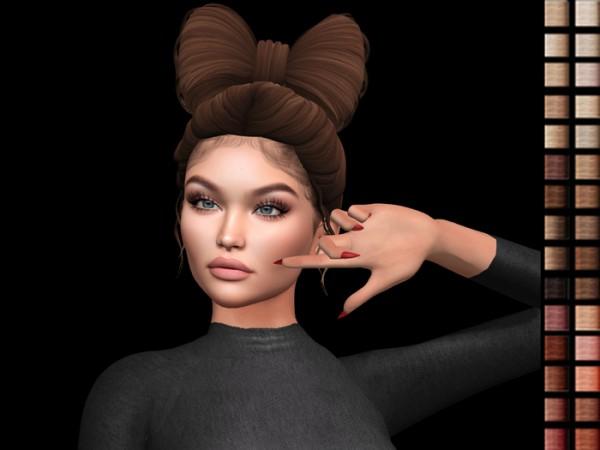 Lluxuriah Sims: Priya hair for Sims 4