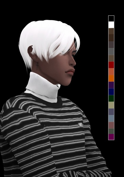 Snoopy: Venus flytrap hair for Sims 4