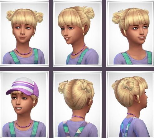Birksches sims blog: Ellie Hair for Girls for Sims 4