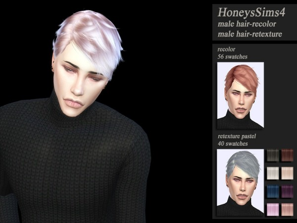 The Sims Resource: WINGS ON0928 hair retextured by HoneysSims4 for Sims 4