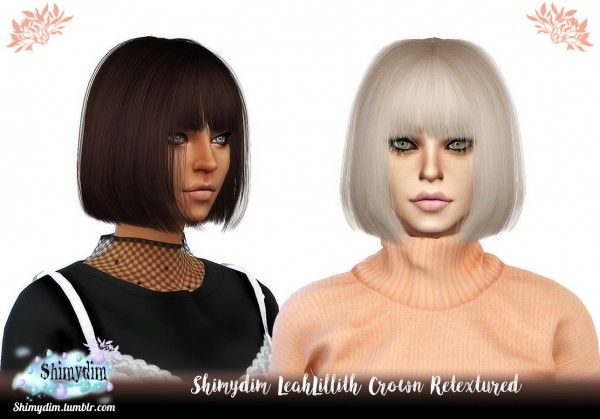 Shimydim: LeahLillith`s Crown hair retextured for Sims 4