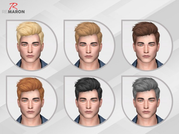 The Sims Resource: Wings OS0508 hair retextured by remaron for Sims 4