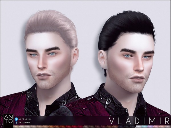 The Sims Resource: Vladimir Hair by Anto for Sims 4
