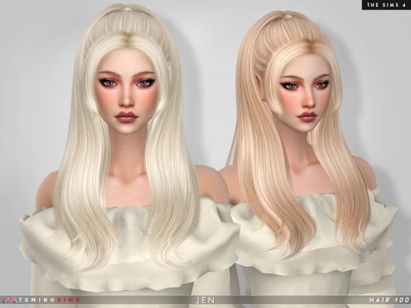 The Sims Resource: Jen hair by TsminhSims for Sims 4