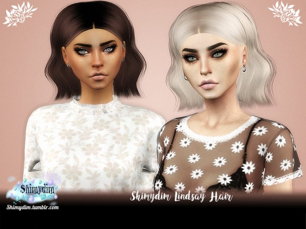 The Sims Resource: Lindsay Hair by Shimydim for Sims 4