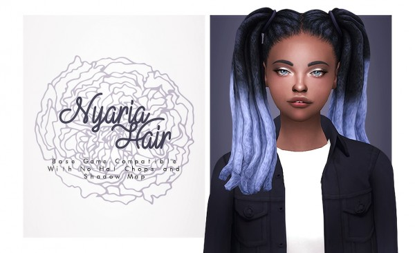 Isjao: Nyaria Hair for Sims 4