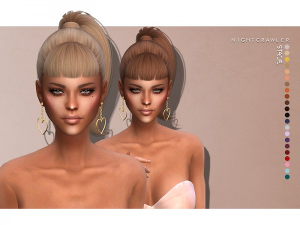 The Sims Resource: Stacie Hair by Nightcrawler for Sims 4