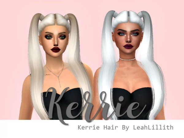 The Sims Resource: LeahLillith`s Kerrie Hair Retextured by HazelsCloset for Sims 4