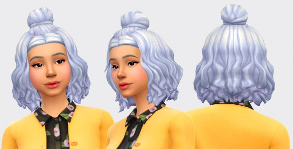 Pickypikachu: Shizue Hair for Sims 4