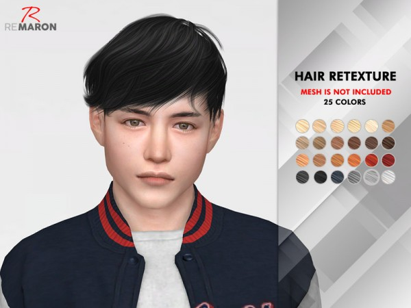 The Sims Resource: WINGS OE0326 Hair Retextured by Remaron for Sims 4