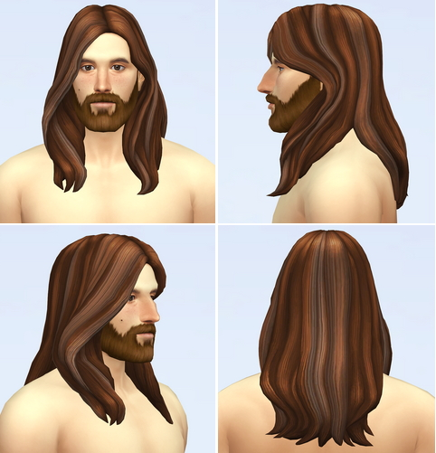Rusty Nail: EP07 Wavy Hair Edit V1 for Sims 4