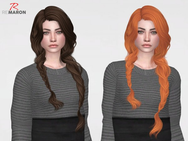 The Sims Resource: Wings OE0316 Hair Retextured by remaron for Sims 4