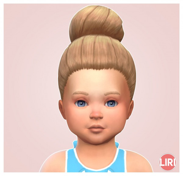 Mod The Sims: Large High Bun by Lierie for Sims 4
