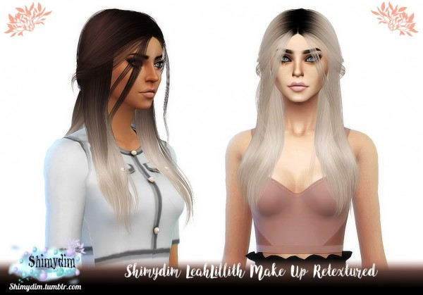 Shimydim: LeahLillith` Make Up Hair Retextured for Sims 4