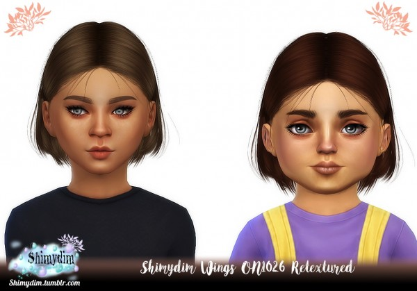 Shimydim: WINGS ON1026 hair retextured   kids and Toddlers Version for Sims 4