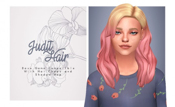 Isjao: Judit Hair for Sims 4