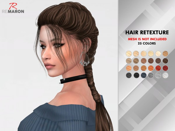 The Sims Resource: Neah hair retextured by remaron for Sims 4