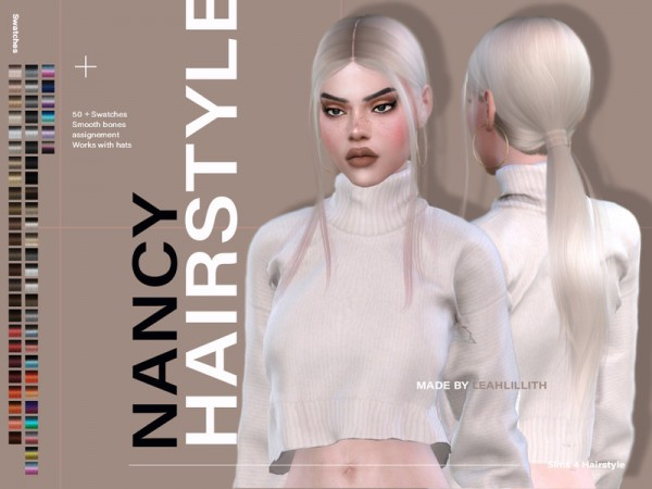 The Sims Resource: Nancy Hair by LeahLillith for Sims 4