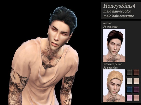 The Sims Resource: Wings OS0826 hair retextured by HoneysSims4 for Sims 4