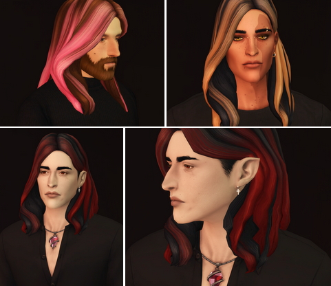 Rusty Nail: EP07 Wavy Hair Edit M Ombre for Sims 4