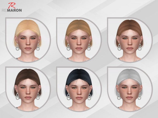 The Sims Resource: WINGS ON1026 hair retextured by remaron for Sims 4