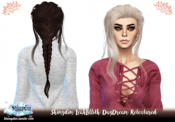 Shimydim: LeahLillith`s DayDream Hair Retextured for Sims 4