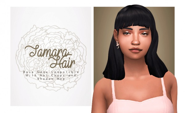 Isjao: Tamara Hair for Sims 4