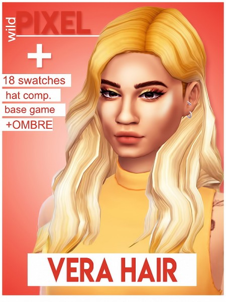In My Dreams: Vera hair for Sims 4