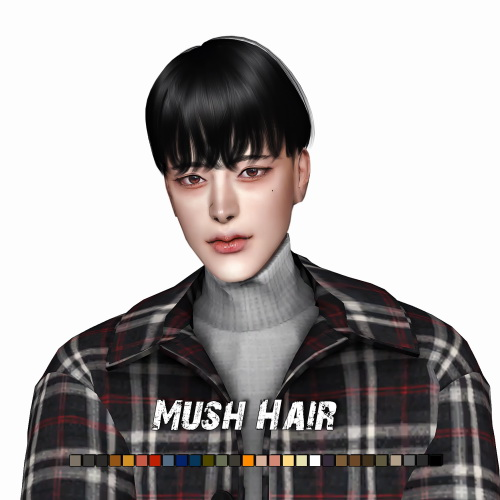 Lemon: Mush Hair for Sims 4