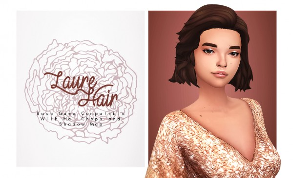 Isjao: Laure Hair for Sims 4