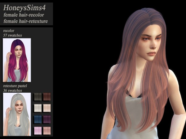 The Sims Resource: Nightcrawler`s Coins hair retextured by HoneysSims4 for Sims 4