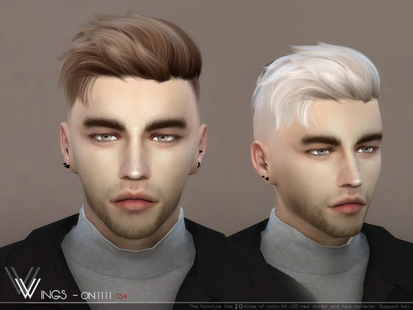 The Sims Resource: WINGS ON1111 hair for Sims 4