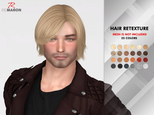 The Sims Resource: OE0416 Hair Retextured by remaron for Sims 4