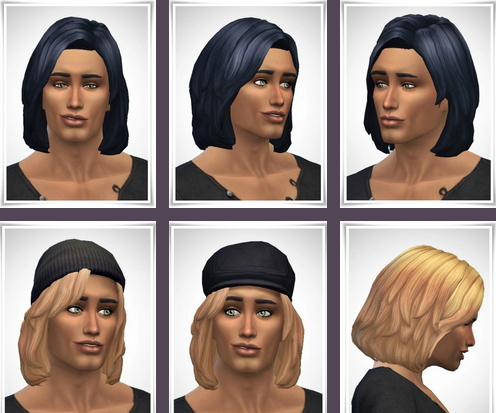 Birksches sims blog: Mario Hair for Sims 4