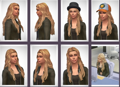 Birksches sims blog: Una Hair for Sims 4