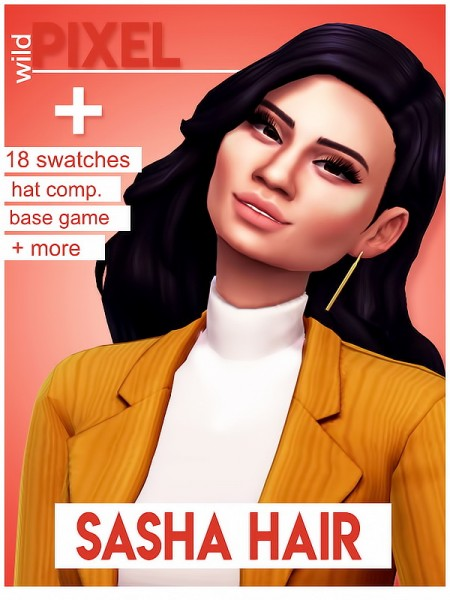 In My Dreams: Sasha Hair for Sims 4