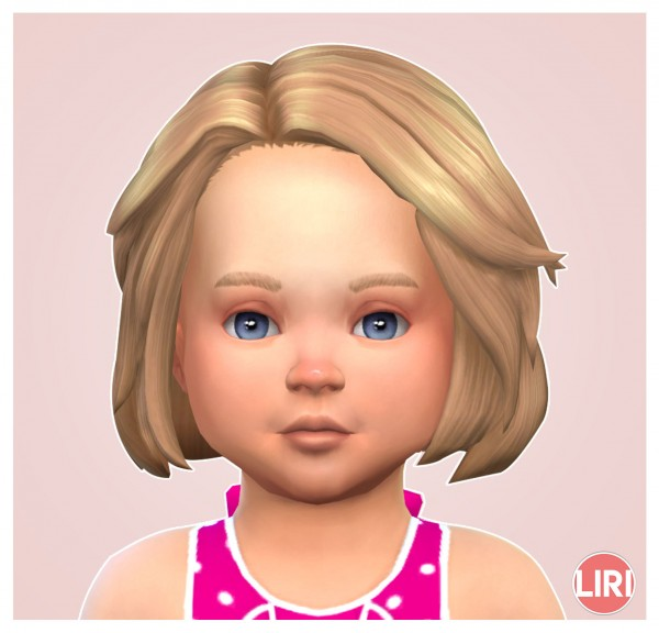 Mod The Sims: Side Swept Wavy Bob by Lierie for Sims 4