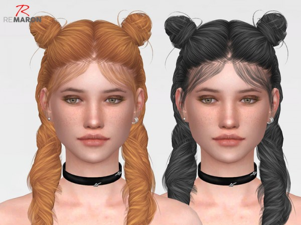 The Sims Resource: Wings ON1017 Hair Retextured by Remaron for Sims 4