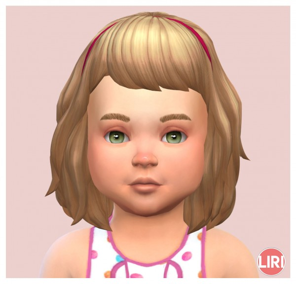 Mod The Sims: Wavy Hair with Headband by Lierie for Sims 4