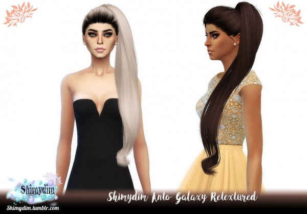 Shimydim: Anto`s Galaxy Hair Retextured for Sims 4