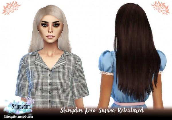Shimydim: Anto` Susana Hair Retextured for Sims 4