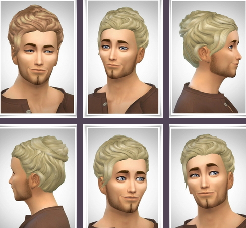 Birksches sims blog: Grayson Hair for Sims 4