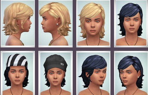 Birksches sims blog: Clark Hair Kidsversion for Sims 4