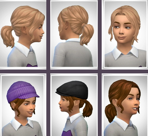 Birksches sims blog: Lacey Hair for Sims 4